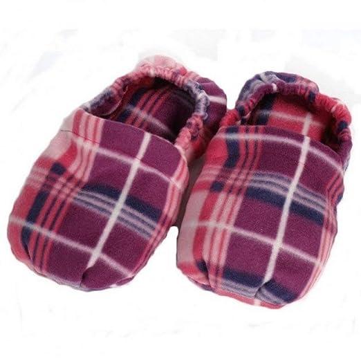Zapatillas con semillas de lino para masajear la planta del ...
