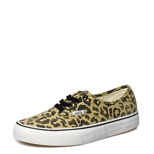 3303530942 Vans Authentic Van Doren Leopard Black Canvas Trainers-UK 4  Amazon ...