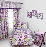 Botanical Purple 4 pc Toddler Bedding Set