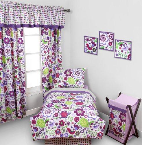 Botanical Purple 4 pc Toddler Bedding Set by Bacati