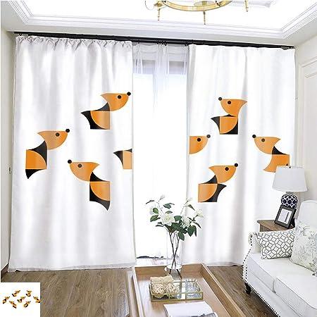 Cortina de dibujos animados serie dekorative Hunde Oder Welpen1 W72 x L72 Cortina de aislamiento de puerta corredera super amplia cortinas de alta precisión para dormitorios, salones, cocinas, etc.: Amazon.es: Hogar