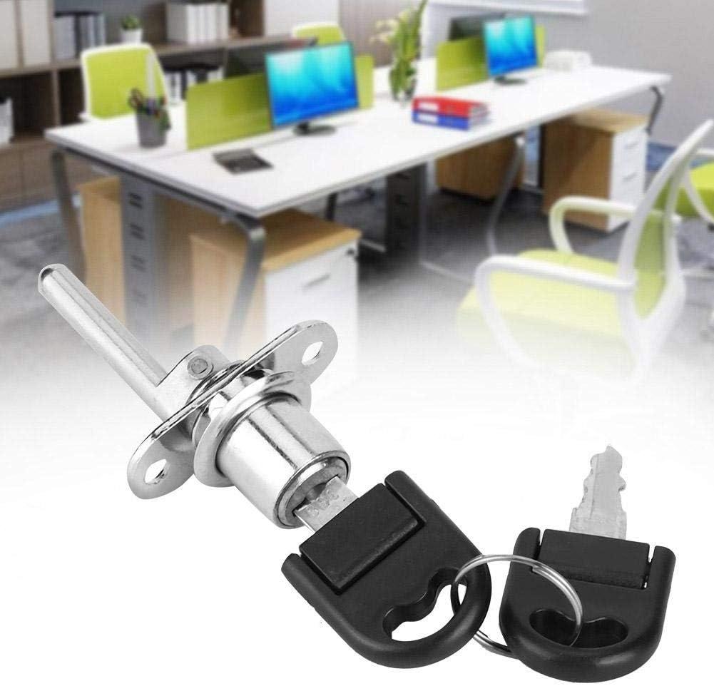 16mm-Negro Duokon 2 Piezas cerraduras de gabinete Muebles caj/ón Armario archivador Cerradura con Llaves Seguridad de Oficina