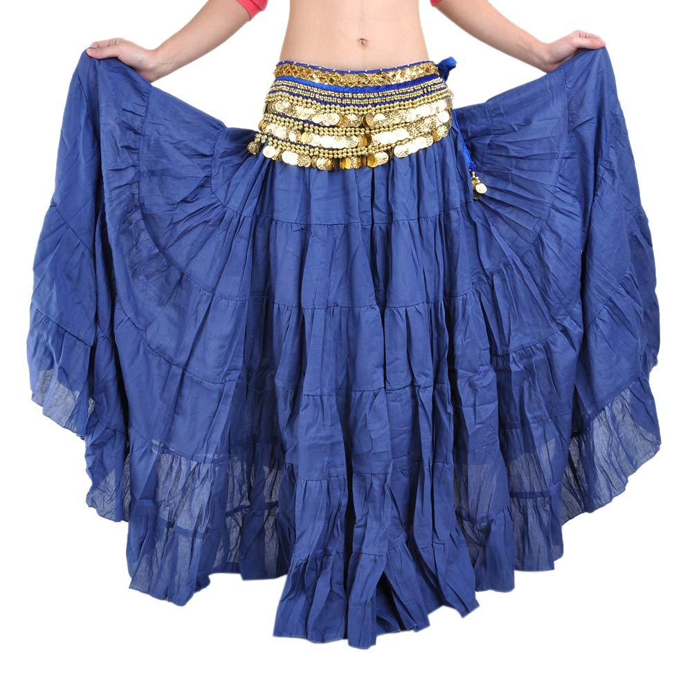 BellyLady Womens Belly Dance 8 Yard Skirt Vogue Bohemia Skirt Gypsy Maxi Skirt