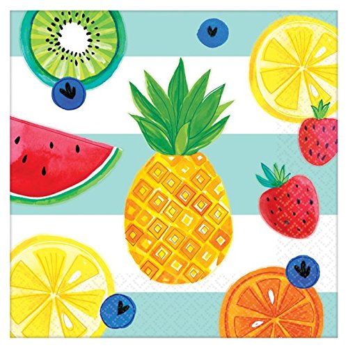 Fruit Napkins - Amscan 511954 Luncheon Napkins Party Supplies, One Size, Multicolor