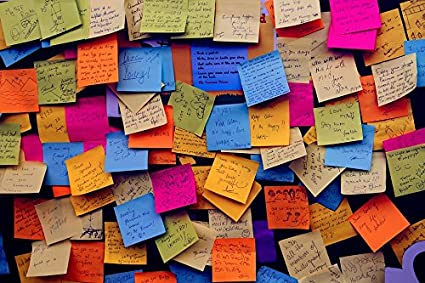Image result for sticky notes wall