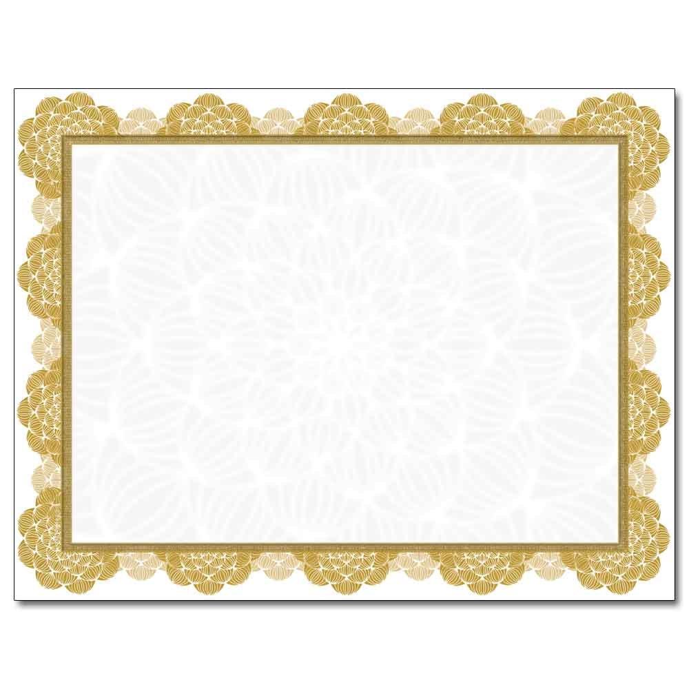 Gold Medallion Laser & Inkjet Certificate Border Paper, 100 pack