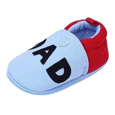 Amazon.com: annnowl bebé zapatillas suela de goma suave ...