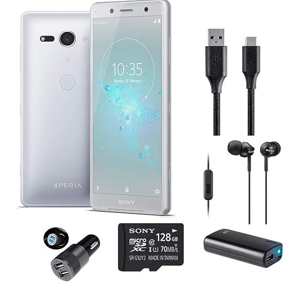 Amazon com: Sony Xperia XZ2 Compact White Silver Performance