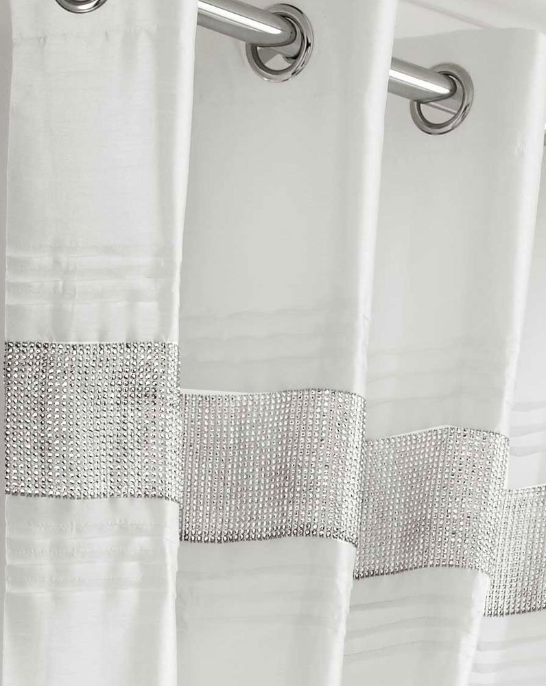 flowers zoom p curtains panels buy two graceful pattern and loading silver white embroidered