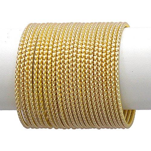 Multi Bangle Set - MUCH-MORE Ethnic Matt Bangles of Multi Colors Set Indian Jewellery for Women's & Girls. (Golden, 2.8)