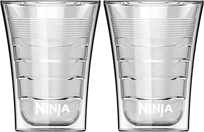 Ninja 14 Ounce Microwave Safe Plastic Double Insulated Cup for Ninja Coffee Bar (2)