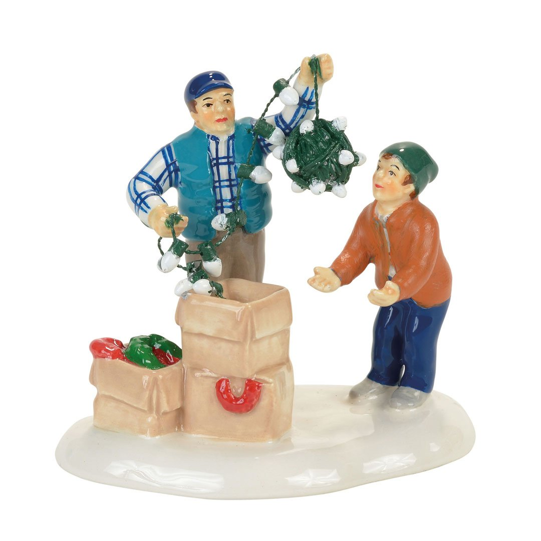Department 56 Snow Village Christmas Vacation Clark and Rusty Accessory Figurine, Multicolored