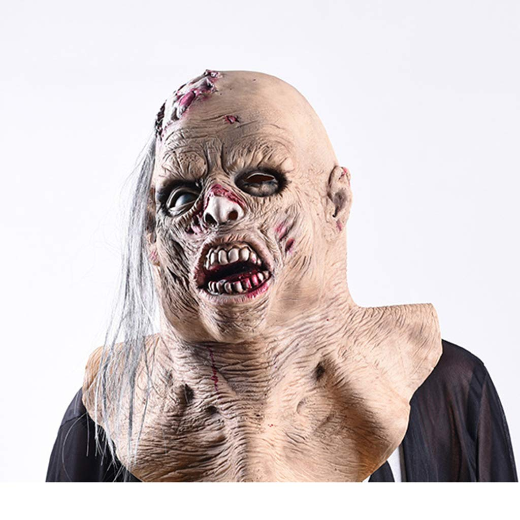 Wrwgl Frightened Female Zombie Halloween Mask Horror Headdress Decoration Disney Carnival Masquerade Theme Party Resident Evil by Wrwgl