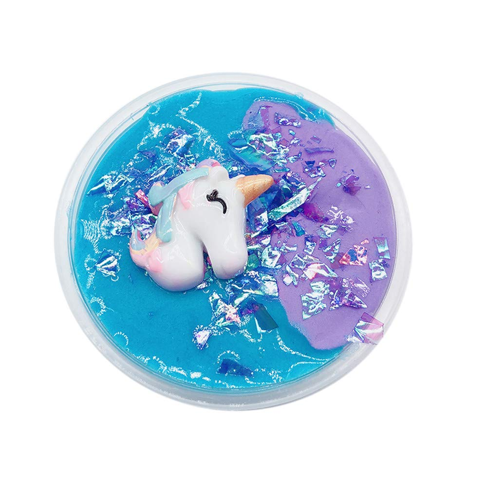 Putty Fluffy Unicorn Slime, Kariwell Color Mud Mixing Cloud Slime, Scented Stress Clay Putty Toy for Kids and Adults
