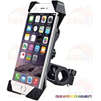 Andride Universal Bike Holder 360 Degree Rotating Bicycle Holder Motorcycle Cell Phone Cradle Mount Holder Mobile Phones, Black