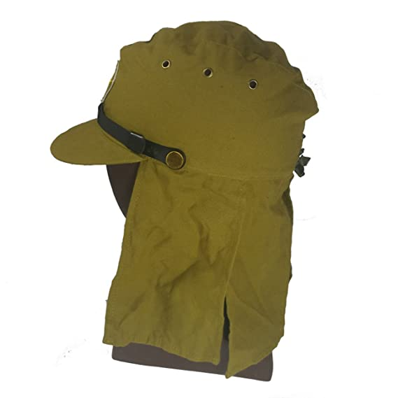 5249b5dd0dd Amazon.com   ANQIAO Repro WWII WW2 Japanese Solider Hat   Flap Neck Cover  Cap 59 CM   Sports   Outdoors