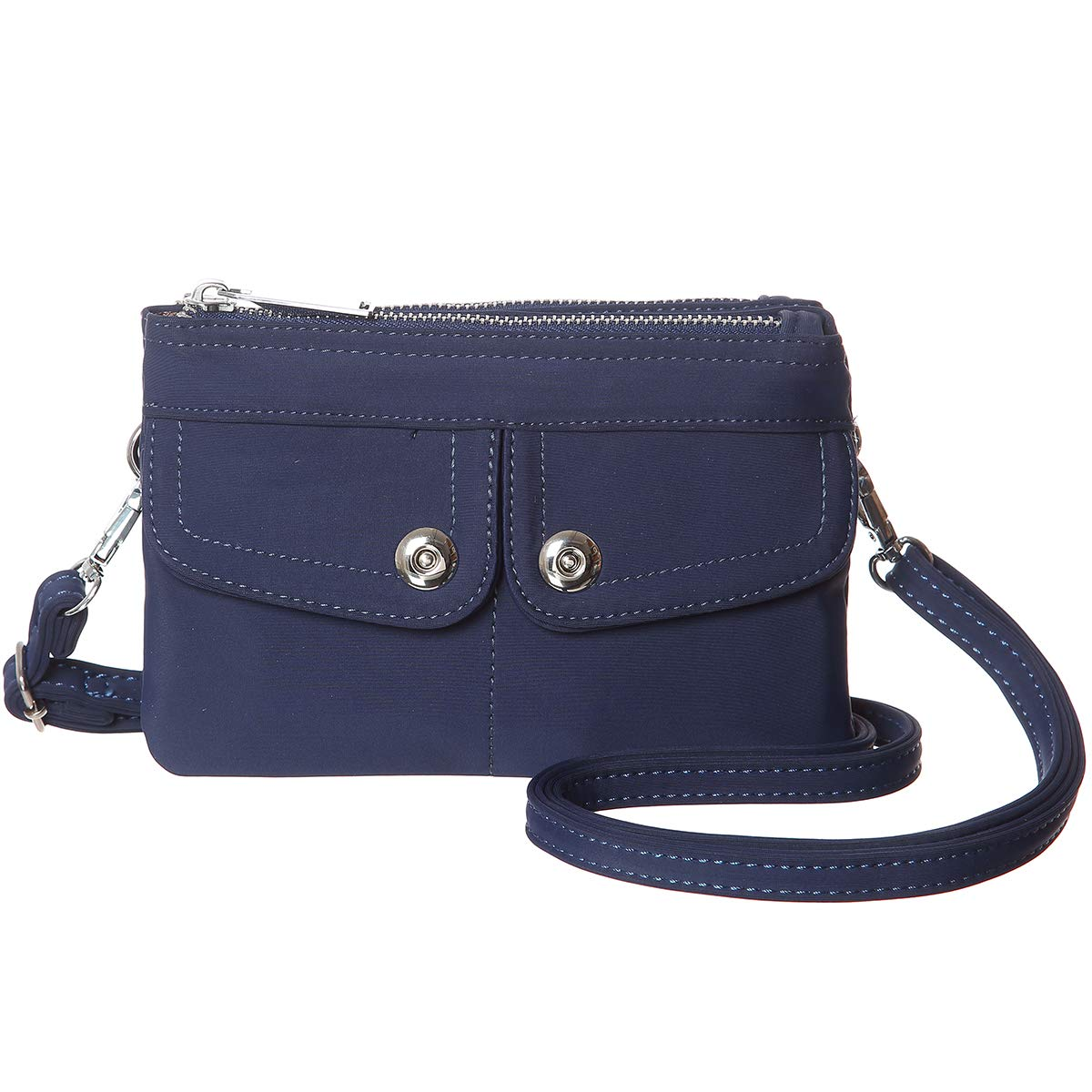 Women Nylon Small Crossbody Purse Bag Mini Crossbody Shoulder Handbag Wallet(Blue)