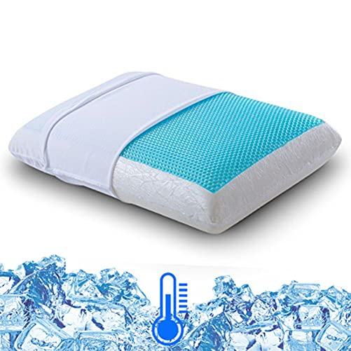 Comfort & Relax Reversible Memory Foam Gel Pillow for Sleeping Cool, Standard Size, 1-Pack