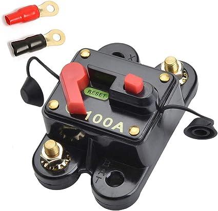 Qiorange 12v 24v 100a Dc Automatische Sicherung Schalter Leistungsschalter Reset Sicherung Auto Marine Boat Bike Stereo Audio 100a Auto