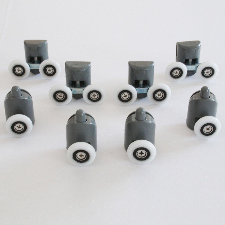 Kit 8 piè ces roulettes remplacement douche pour verre porte coulissante Mix 1 Idralite