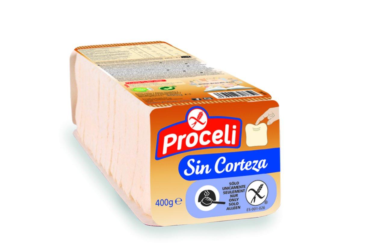 Proceli Pan de Molde Sin Corteza Sin Gluten - 400 gr - [Pack ...