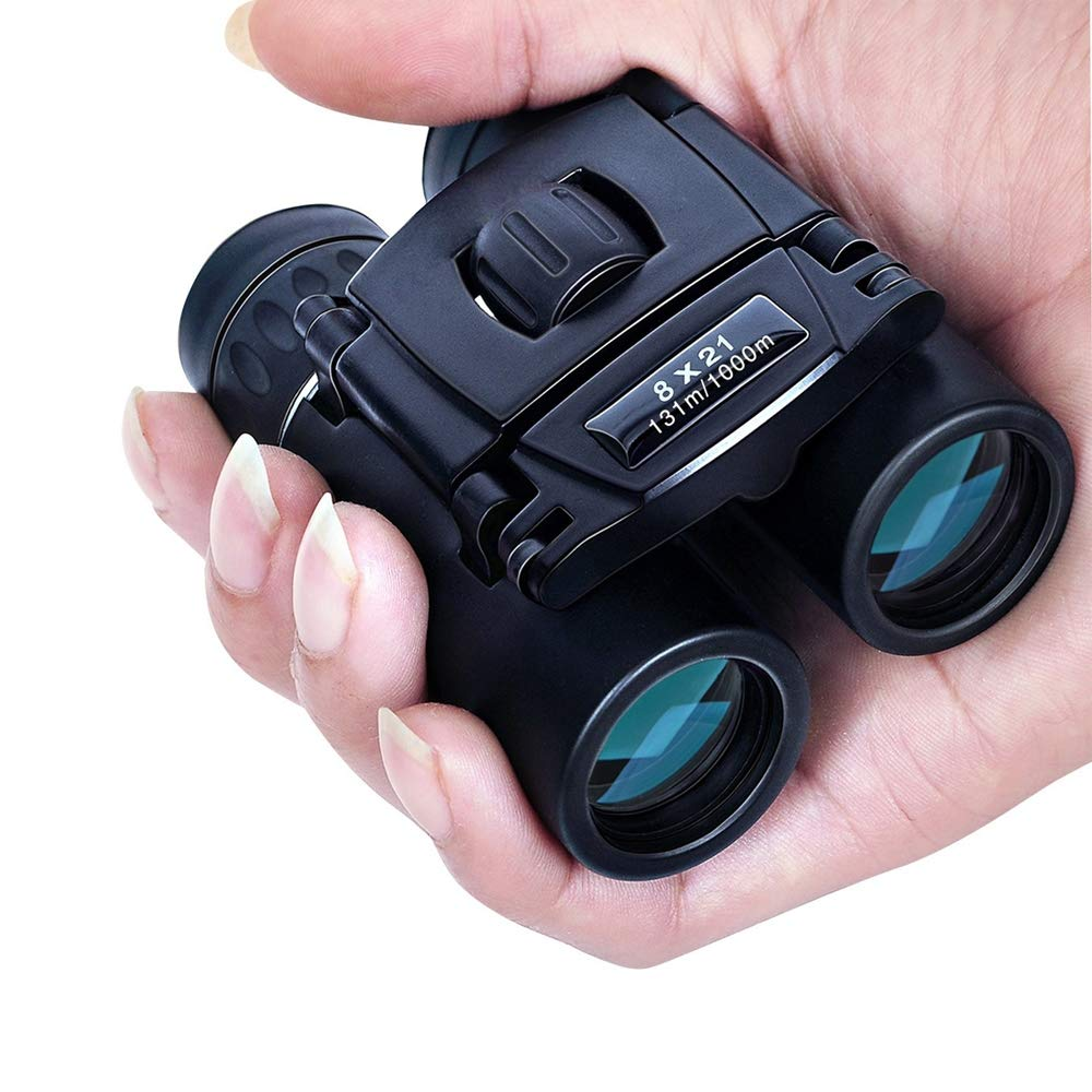 MIJNUX Compact Zoom Binoculars Long Range 1000M Folding HD Powerful Mini Telescope BAK4 FMC Optics Hunting Sports Camping