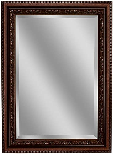 Headwest Addyson Single Framed Wall Mirror in Copper, 32 inches by 44 inches