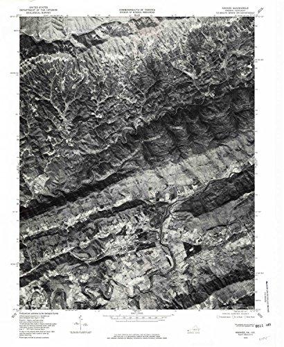 Keokee VA topo map, 1:24000 scale, 7.5 X 7.5 Minute, Historical, 1976, updated 1981, 26.7 x 22 IN - - Creek Jordon