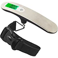 Travel Buddy - Luggage Scale 2017 - Portable Digital Travel Suitcase Scale for Travel, Outdoor, Fishing, Home - Handheld Scale with Buckle Strap - High Accuracy, 110 lb/50KG Capacity