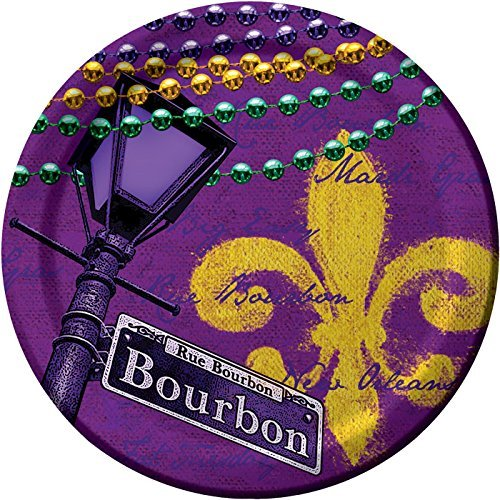 Creative Converting 8 Count Paper Dinner Plates, Rue Bourbon -