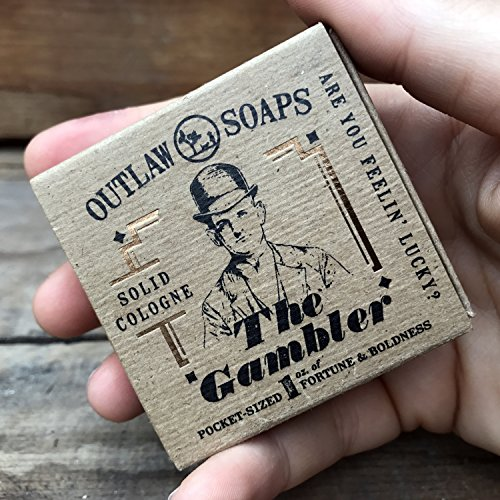 The Gambler Solid Cologne: Smells like Bourbon, Tobacco, and Leather Men's or Women's Cologne 1 oz in a twist top travel tin