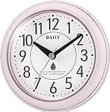 リズム時計 DAILY 掛け時計 防滴防塵 アクアパークDN ピンク 4KG711DN13