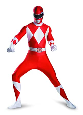 Amazon.com  Disguise Sabans Mighty Morphin Power Rangers Red Ranger  Bodysuit Adult Teen Costume  Clothing ef4c84e7a