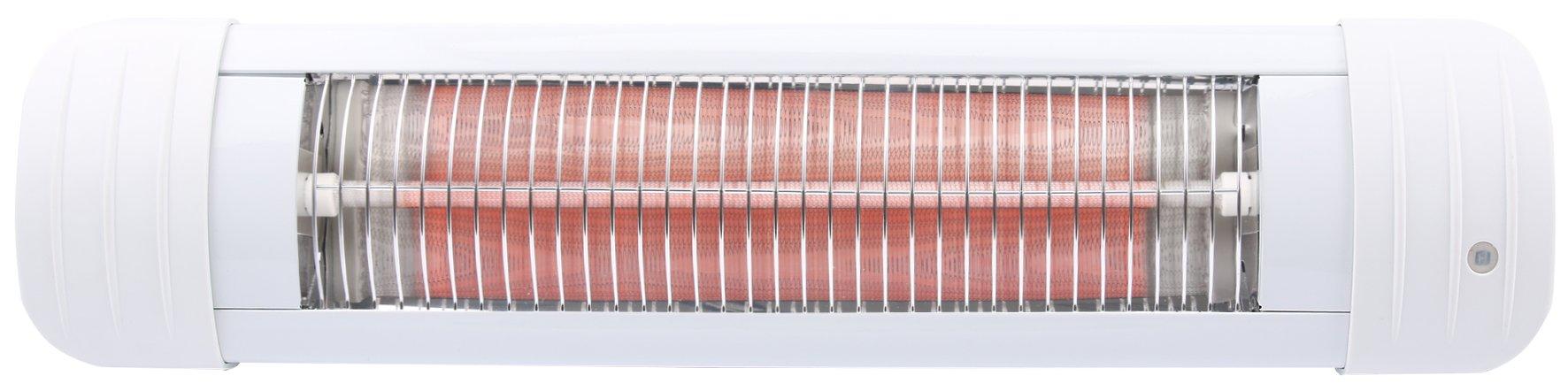 H+H BS 50 Heizstrahler Baby (mit Abschaltautomatik, Wandmontage, Tropfwassergeschützt, Geräuschlos, Wärmelampe für Wickeltisch, Babystrahler mit Zugschalter für Wickelkommode) product image