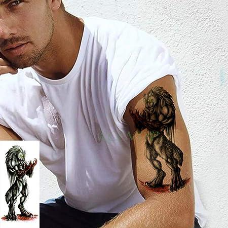 4 Piezas Impermeable Tatuaje Pegatina Flecha símbolo ala Flor Vid ...