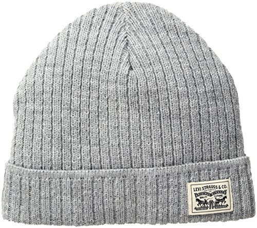 levis-mens-knit-cuff-beanie-with-woven-label-grey-one-size