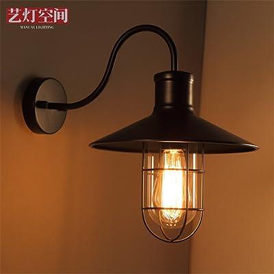 MMYNL Moderne Appliques Murales Vintage E27 Antique Lampe Pour Chambre  Salon Bar Couloir Salle De Bains Cuisine Escalier Intérieur  LampesCouverture De Filet ...