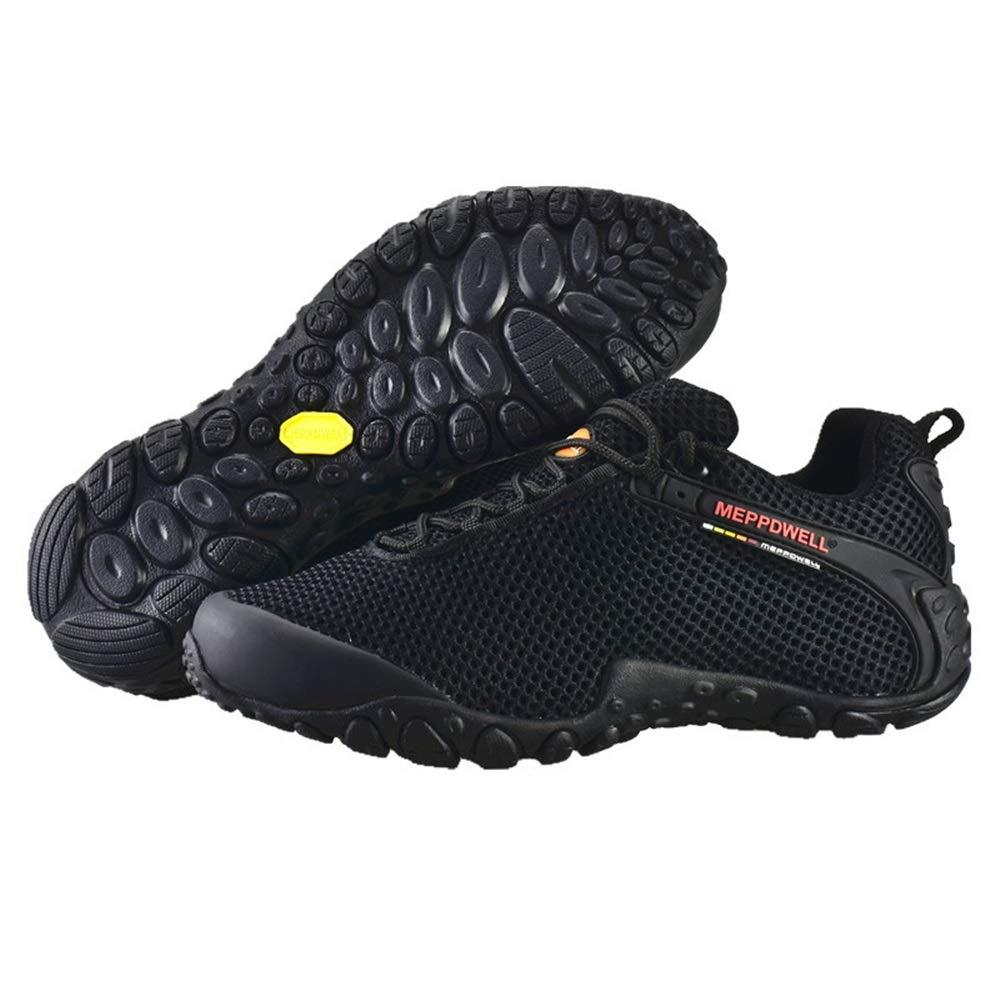 Qiusa Mens Mesh Breathable Schuhe weiche Sohle Bequeme Turnschuhe Klettern für Walking Running (Farbe   Grau, Größe   EU 43) B07HMSQF1H Sport- & Outdoorschuhe Zuverlässige Qualität