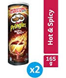 Pringles Hot and Spicy Flavored Chips - 165 grams (Pack of 2)