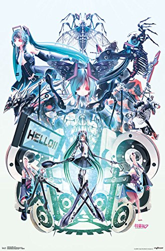 "Trends International Hatsune Miku Hello Wall Poster 22.375"""