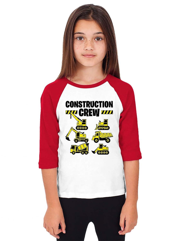 SpiritForged Apparel Construction Crew Youth 3//4 Raglan Shirt