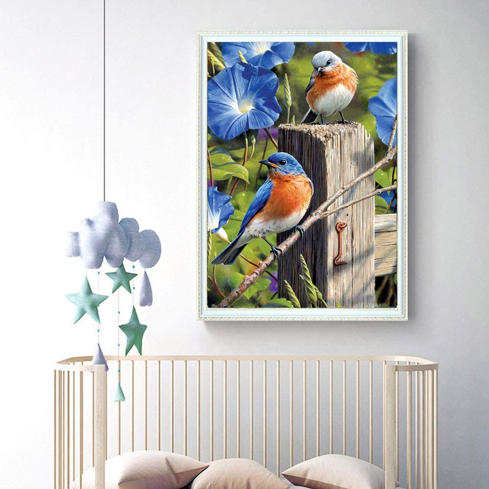 feilin DIY Diamond Rhinestone Painting Kits for Adults and Beginner Embroidery Arts Craft Home Decor Bird H 30x40cm 5D Diamond Painting Full Drill