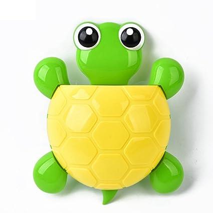 Creative Cute Tortoise Soporte para cepillos de dientes, montaje en pared, accesorios de baño
