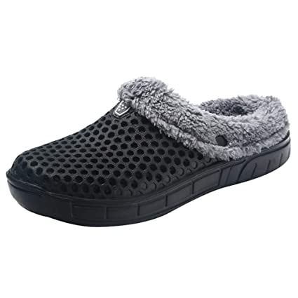 Hausschuhe Damenschuhe Black Plush Slippers Unisex Slippers Winter Warm Checked Pattern Eu39 Uk6