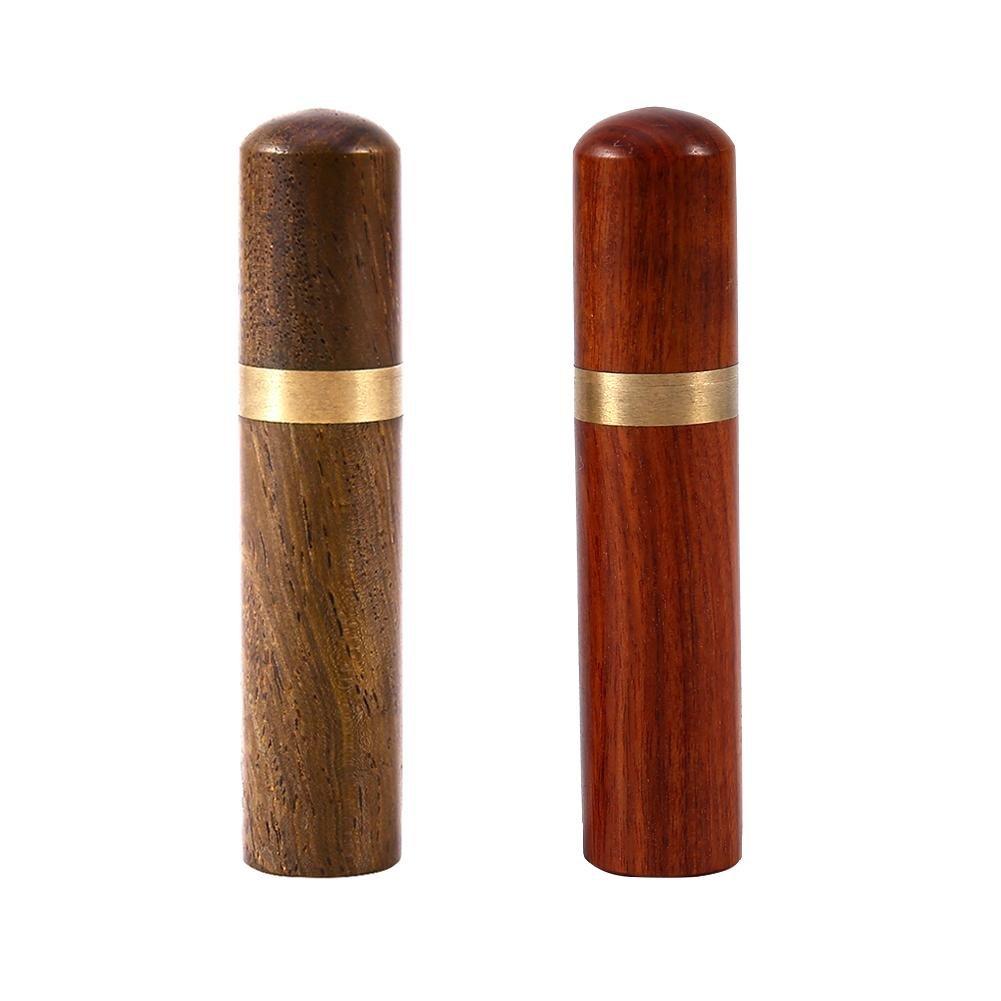 Porta palillos de dientes Porta palillos de madera port/átil Caja de palillos de dientes Mini Porta palillos de bolsillo Kit de viaje ultraligero Madera negra