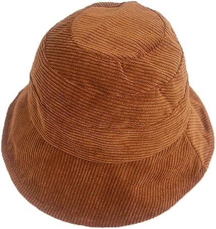RROVE Caja de Regalo Sombrero de Pescador de Terciopelo de Pana para Mujer Gorra de Pescador con Protector Solar de ala Ancha de Color sólido: Amazon.es: Hogar