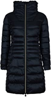 c6d4361b8330 Save The Duck Women's Long Nylon Coat With Fake Fur Black 2 at ...