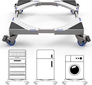 SEISSO Multifunctional Dolly Roller Base, Telescopic Laundry Dryer Base Carrier with 4 Adjustable Wheels, Easily Movable for Furniture Washing Machine Refrigerator Cabinet Vertical Air Conditioner