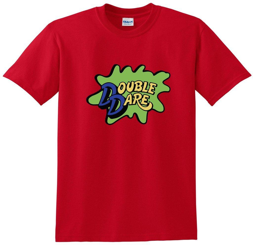 レッドDouble DareロゴNickelodeon Tシャツ B01GNIDLYO Large|Red,adult Large Red,adult Large Large