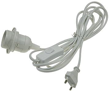 ChiliTec Cable de alimentación con Interruptor y Casquillo E27: Amazon.es: Electrónica